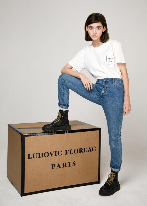 Футболка из хлопка, вышивка Ludovic Floreac Paris