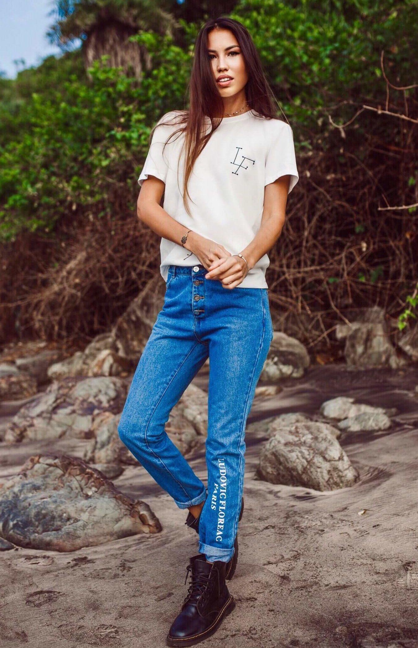 ludovic floreac paris fashion brand women t-shirt and jeans